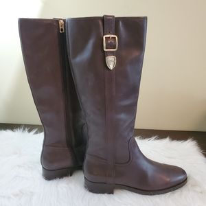 Coach Easton Tall Leather Riding Boot in Chestnut